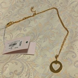 Kate Spade Symbols heart pendant necklace